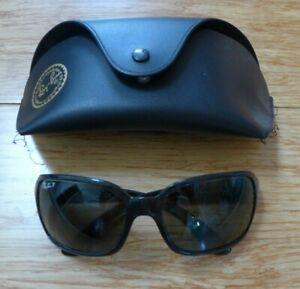 Ray Ban Womens 4068 601/58 3P Black Frame Gray Lenses Sunglasses Eye Wear Italy