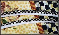 20 YARDS VHTF BLACK & OFF WHITE CHECK LIP CORD FABRIC TRIM PIPING HIGH QUALITY