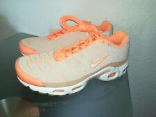 Nike Mujer Wmns Air Max Plus Prm Naranja Piel de ante Sampel CD7060-800 Nuevo 38