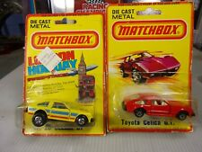 Vintage 1980 Lesney Matchbox TOYOTA CELICA GT Red & yellow   TWO Cars in package