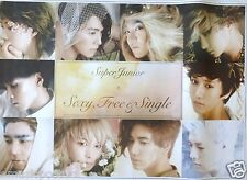 "SUPER JUNIOR ""SEXY FREE & SINGLE 2"" HONG KONG PROMO POSTER-Korea Boy Band, K-Pop"