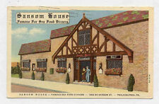1942 PHIL PA SANSOM HOUSE RESTAURANT POSTCARD PC3073