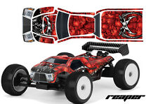 AMR RACING RC GRAPHIC SKIN DECAL KIT MUGEN PROLINE BODY MBX6T GRIM REAPER RED