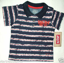Levi's Baby Boy Striped Polo Shirt, Dark Navy, Sz.12 Months. Nwt