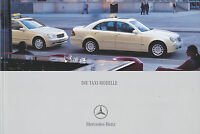 Mercedes Taxi Prospekt 2002 5/02 brochure E-Klasse S-Klasse C-Klasse Vaneo Auto