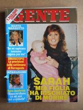 GENTE n°34 1988 Marta Marzotto Sarah Stefania di Monaco Lucio Dalla   [G592]