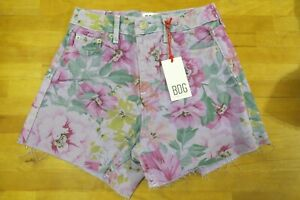 Urban Outfitters BDG Pax Lilac Floral High Waisted Denim Shorts 28 waist 10 - 12
