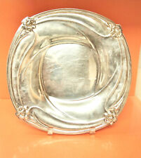 Rare 1847 Pogers Bros Silver Plated Square Tray/ Art Nouveau / Daffodil Pattern