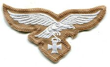 WWII German Luftwaffe Breast Eagle Iron Cross Tropical Afrika Korps White on Tan