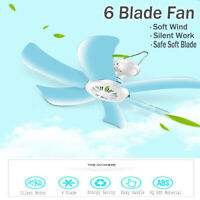 Electric 220V Portable 4/6 Blades Mini Ceiling Fan Easy Hanging Summer
