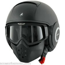 CASCO SHARK RAW NEGRO MATE TALLA S