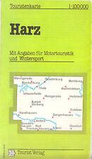 Touristenkarte, Harz [Ostharz], 1985