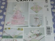 McCALL'S 6301 DIAPER CAKE- TOY-DECORATION-BURP CLOTH-BLANKIE- PATTERN-UNCUT