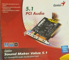 GENIUS 5.1 PCI Audio card with disc in box- New
