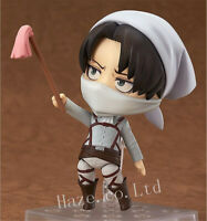 Anime Attack On Titan Levi Cleaning Ver. Nendoroid PVC Figure Model Toy 4""