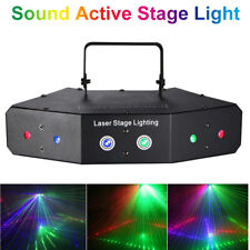 8channels Sound Active LED RGB Stage Lights Laser Beam DMX 512 Disco Party Club