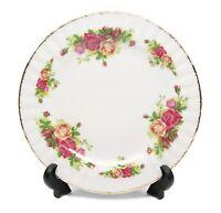 """Royalty Porcelain Set of 6 """"Vintage Floral"""" Dinner Plates, 24K Gold"""