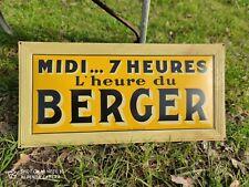 RARE tôle publicitaire Apéritif Anisé MIDI...7 heures L'heure du BERGER BAR PUB