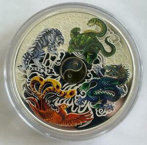 2014 Tuvalu Chinese Ancient Mythical Creatures Silver Proof Five Ounce, 5oz