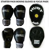 FOCUS PADS & BOXING BAG PUNCHING GLOVES MMA TRAINER SET KICKBOXING PT