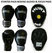 FOCUS PADS & BOXING BAG PUNCHING GLOVES MMA TRAINER SET KICKBOXING PT