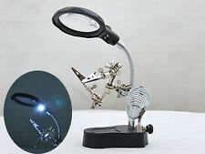sto DESK LAMP MAGNIFIER WELDING TABLE MAGNIFYING GLASS Adjustable Support Clamp