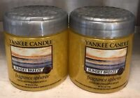 Yankee Candle (2) Sunset Breeze Odor Neutralizing Beads Spheres New!