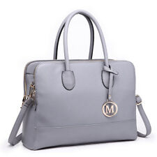 Women PU Leather Shoulder Handbag Briefcase Satchel Laptop Bag Zipper