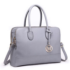 Laides DESIGNER PU Leather Shoulder Tote Handbag Large Bag Satchel Women Lt1726 Grey