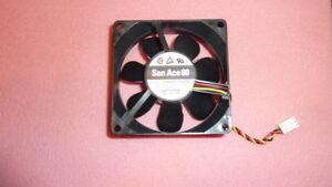 NEW SANYO 109R0812G4D01 DC Fan 80 x 25 x 80mm ,12VDC 0.37A Locked Rotor Sensor