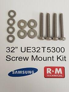 Samsung Tv Wall Mounting Screws UE32T5300 T5300 New M4 26mm - 28mm SCREWS
