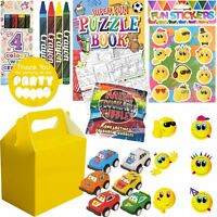 Kids Pre Filled Childrens Boys Yellow Party Bags Boxes For Birthday Weddings