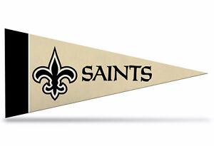 "New Orleans Saints NFL Mini Pennant 9""x4"", New, Felt, Made in USA, Banner, Flag"