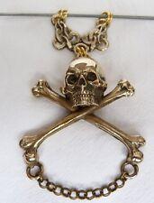 Pendants  Skull Head Bone Snake Memento Mori  brass