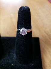 NWOT 10k White Gold Cubic Zirconia Ring Size 7