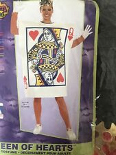 Brand New Queen of Hearts Card Adult Halloween Costume