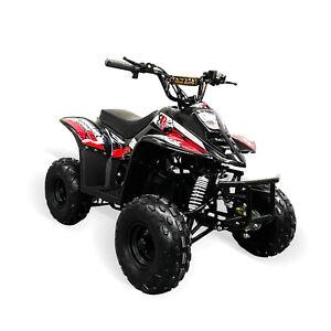 Electric Quad Bike 1500W Equivalent Motor, Big 48V Kids, 3 Speed, 20mph, Red