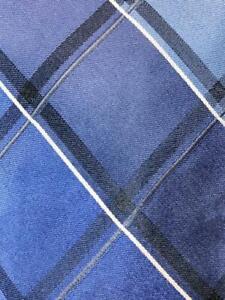 JOSEPH ABBOUD BLACK GRAY ROYALBLUE CHECKER SILK NECKTIE TIE MAP1221A #R38