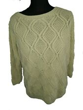 BHS LIME YELLOW CABLE KNIT JUMPER - PLUS Size 18
