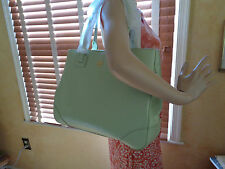 NWT TORY BURCH Robinson TOTE MINT JULEP  (Green) SAFFIANO Leather DUSTBAG $575