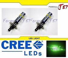 CREE LED 50W H1 GREEN TWO BULB HEAD LIGHT JDM SHOW OFF ROAD LAMP REPLACEMENT K