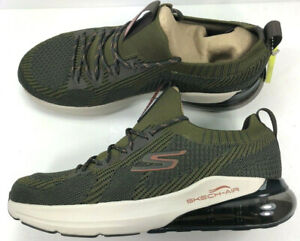 Skechers Go Run Air-Stratus /Mens/Air-Cooled/Air / Olive/Orange/ Howie Long NIB