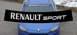 Renault Sport RS Blendstreifen Frontscheibe Aufkleber Megane, Clio, Twingo e.c.t