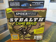 SPIDERWIRE STEALTH CAMO BRAID SS10C-300 10LB - 300YD CLEARANCE OFFER