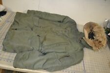 jacket military mans nylon twill sage green 1511 N3B USAF flyers 1964 real fur