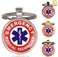 Paramedic Key Chains Men Women Keychain Classic EMT Emergency Medical Technician