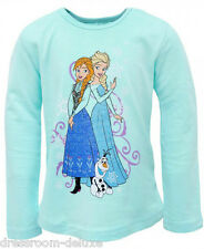 NEU DISNEY FROZEN Eiskönigin Elsa & Anna Langarm Shirt 104 110 116 122 128