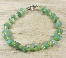 *Freedom Tree*Jade & Green Crystal Gemstone Bracelet Hand Made Chakra /Healing