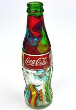 Coca-Cola Aruba Karibik Coke Flasche 1995 buntes Glas Stained Glass Bottlle Fish