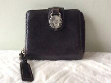 MULBERRY SOMERSET ladies dark brown chunky wallet purse